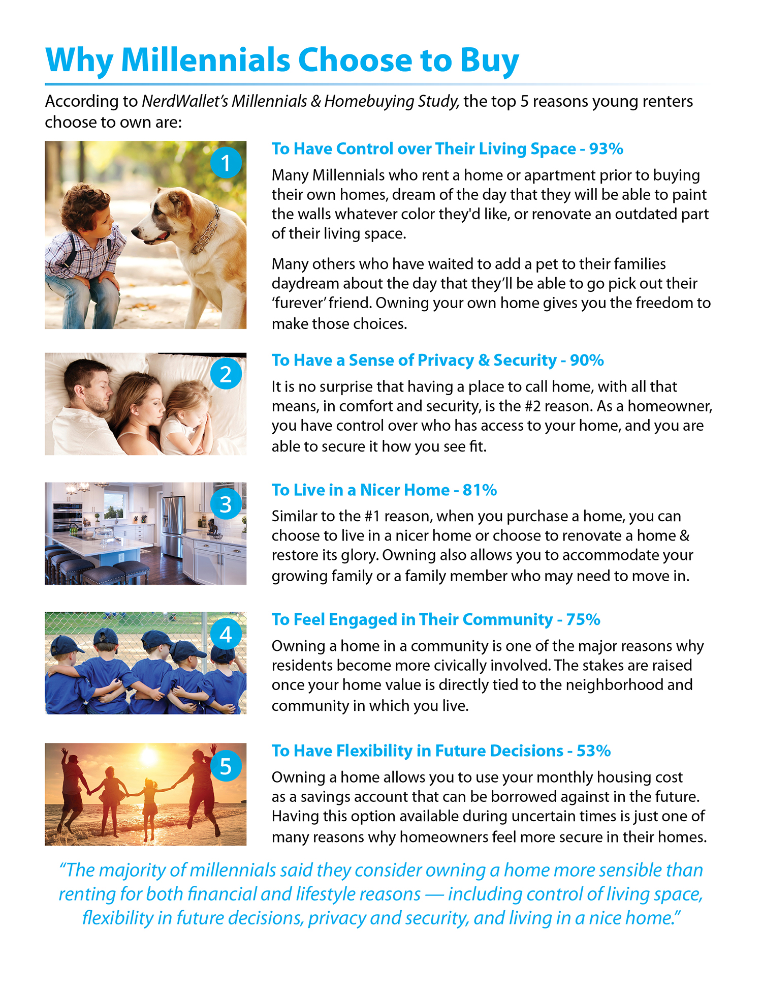 5 Reasons Millennials Choose to Buy a Home [INFOGRAPHIC] | Simplifying The Market